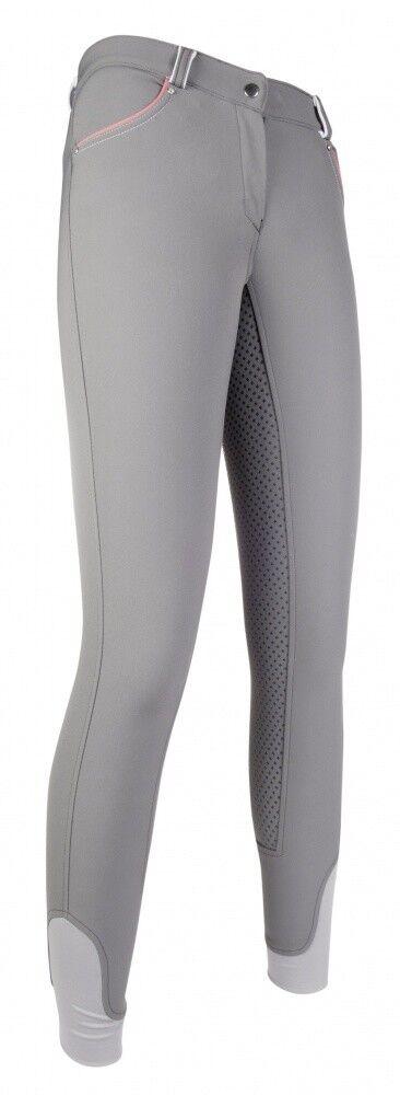 Damen Reithose Silikon Vollbesatz schwarz & Weiß HKM HKM HKM grau b52d26