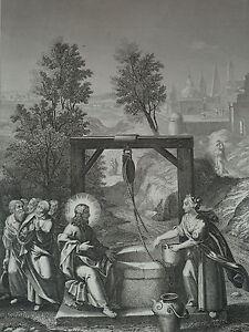 Jesus-Christ-et-La-Samaritan-Gravure-of-1863