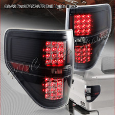 For 2009-2014 Ford F150 Pickup Trucks LED Black Housing Clear Lens Tail Lights