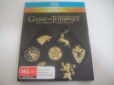 Game Of Thrones: Third Season Three 3 - Slipcover 6-Disc Blu-Ray Region B | Rare