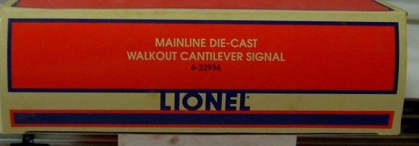 LIONEL 6-22934 DIE-CAST WALKOUT CANTILEVER SIGNAL