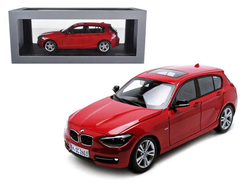 BMW F20 serie 1 rosso 1 18 Diecast Modelo Coche por Paragon 97004