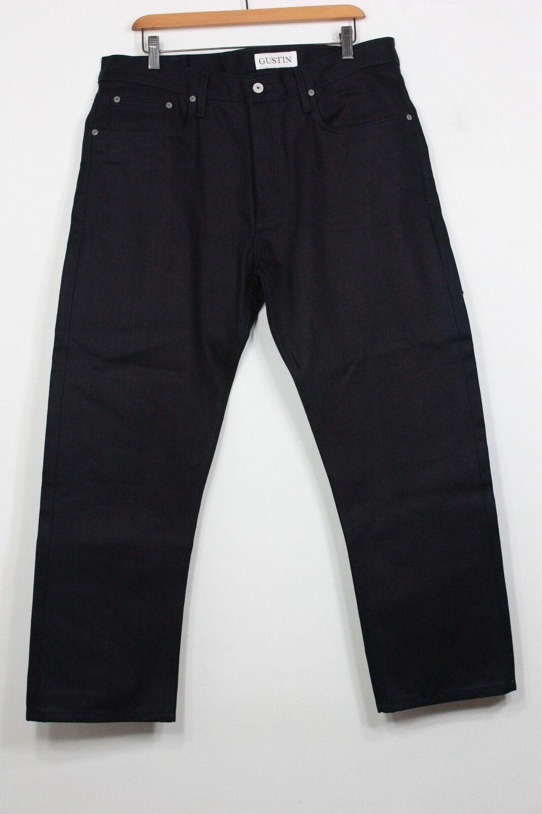 Gustin 166 Indigoxindigo Jeans 37 X 27 Roh 414g Kanten Denim Gerade Neu  | Großer Räumungsverkauf  | Clever und praktisch  | Neuheit