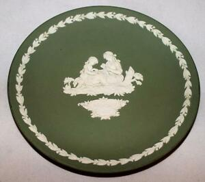 Wedgwood-Jasperware-Green-Accent-or-Dessert-Plate-6-1-2-034