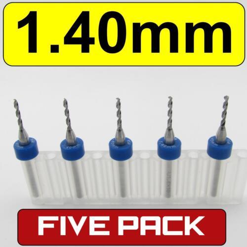 "Five .055/"" 1.40mm #54 Carbide Drill Bits 1//8/"" Shaft cnc pcb model hobby  R//S"