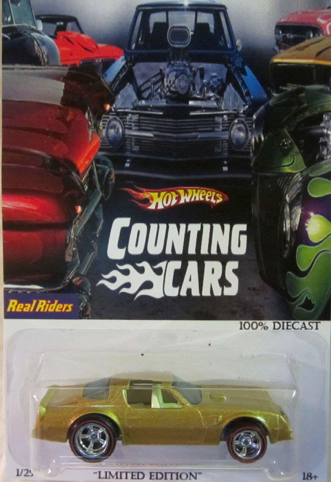 Hot Wheels CUSTOM 77 PONTIAC FIREBIRD   Counting Cars  Real Riders Limited 1 25