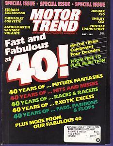 Image Is Loading MOTOR TREND MAGAZINE MAY 1989
