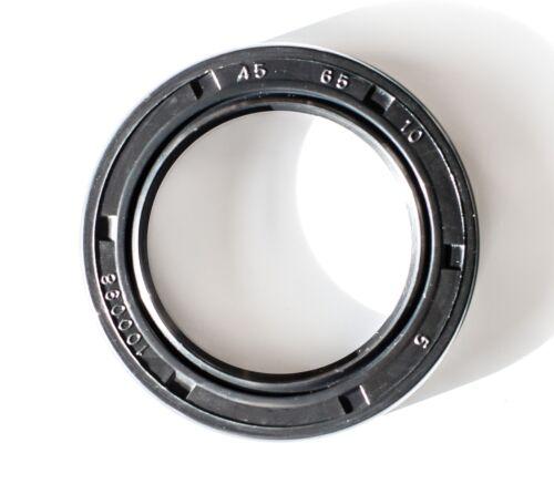 Metric Oil Shaft Seal 45X65X10mm EAI Dust Grease Seal TC Double Lip w// Spring