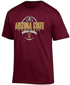 Arizona-State-Sun-Devils-Maroon-Football-Short-Sleeve-T-Shirt-by-Champion