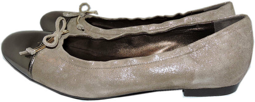 $299 Shimmer Agl Attilio Giusti Leombruni Shimmer $299 Suede Cap Toe Loafers Flats Shoes 42 ffe5e1