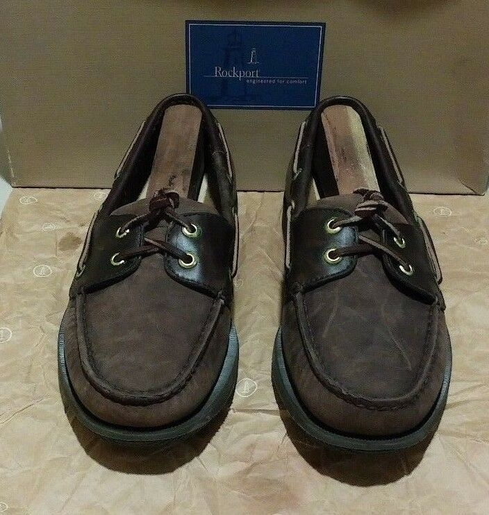 New Rockport  M5109 7 W chocolate bark nubuck oil-tanned leather (1508)