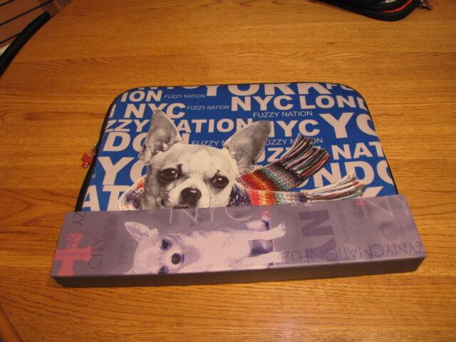 Fuzzynation fuzzy nation dog tablet laptop ipad  sleeve pup chihuahua DENT case