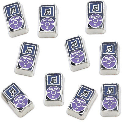 Purple MP3 Player Floating Charm For Memory Locket (Origami Owl Style)