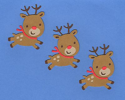 """Special Order -Reindeer Die Cuts, 3"""" Group of 15 - (5 sets of 3)"""
