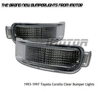 1993-1997 Toyota Corolla Le/base 4/5dr Sedan Wagon Chrome Bumper Signal Lights on sale