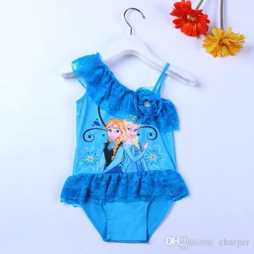 Frozen  Swim Suit Anna /& Elsa Blue  2-7 years UK STOCK  new Swimming Costume