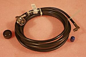 NEW 15 FT FLEXIBLE 50 Ohm COAXIAL CABLE w// MALE N and SMA CONNECTORS; FREE SHIP