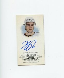 08-09-UPPER-DECK-CHAMPS-MINI-SIGNATURE-AUTOGRAPH-AUTO-DREW-STAFFORD-SABRES-68922