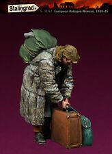 1/35 Escala Kit de modelo de resina Segunda Guerra Mundial 1939-45 civiles europeas Mujer refugiados #2