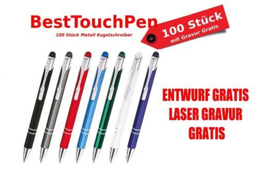 no más costes 100 trozo de metal Best touch pen bolígrafo con grabado