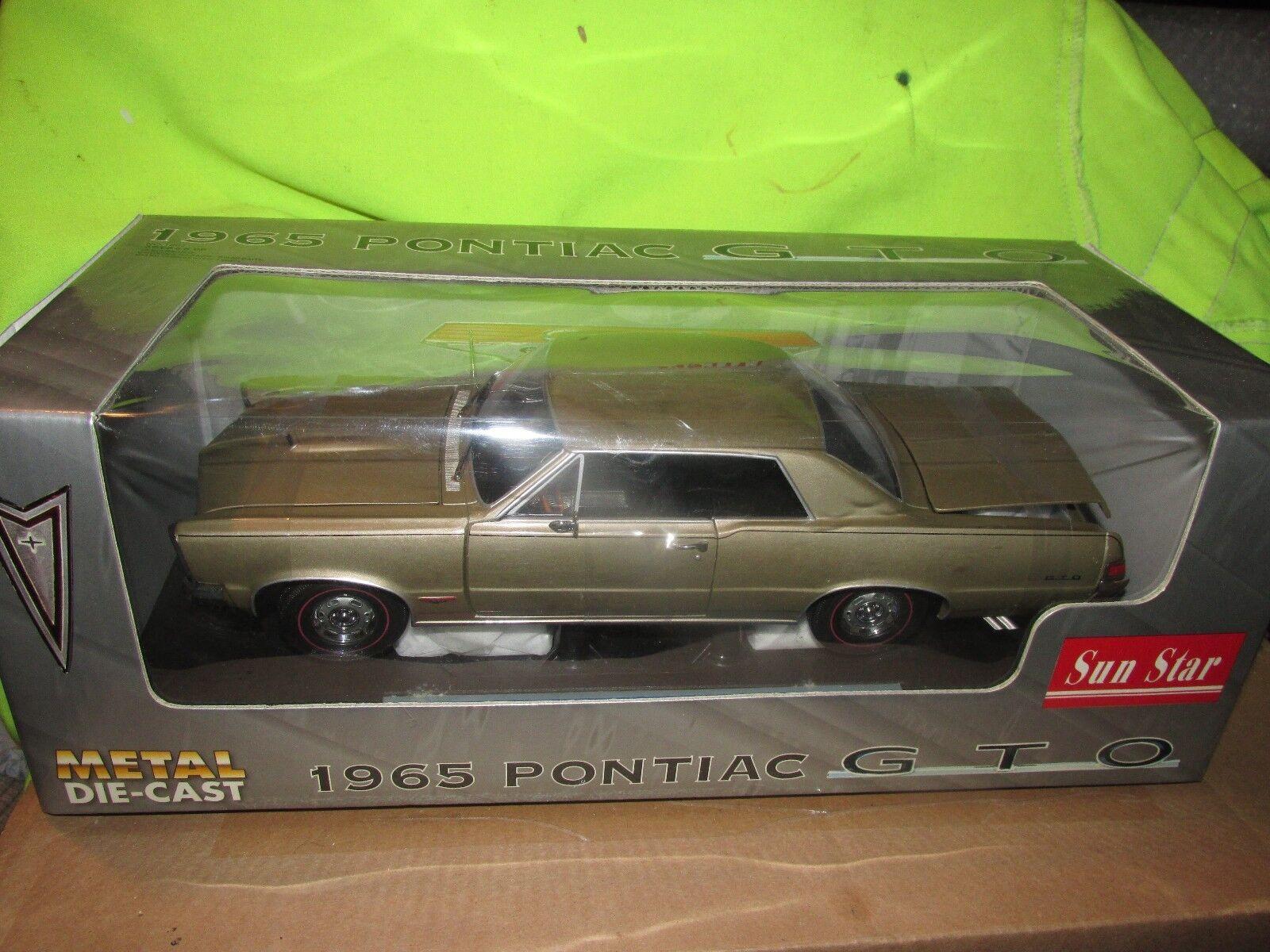 1965 Pontiac 65 GTO 2 dr Hardtop oro Sunstar Sunstar Sunstar 1 18 looks very good diecast 5af197