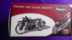 ATLAS 1/24 CLASSIC MOTORBIKE VINCENT HRD BLACK SHADOW