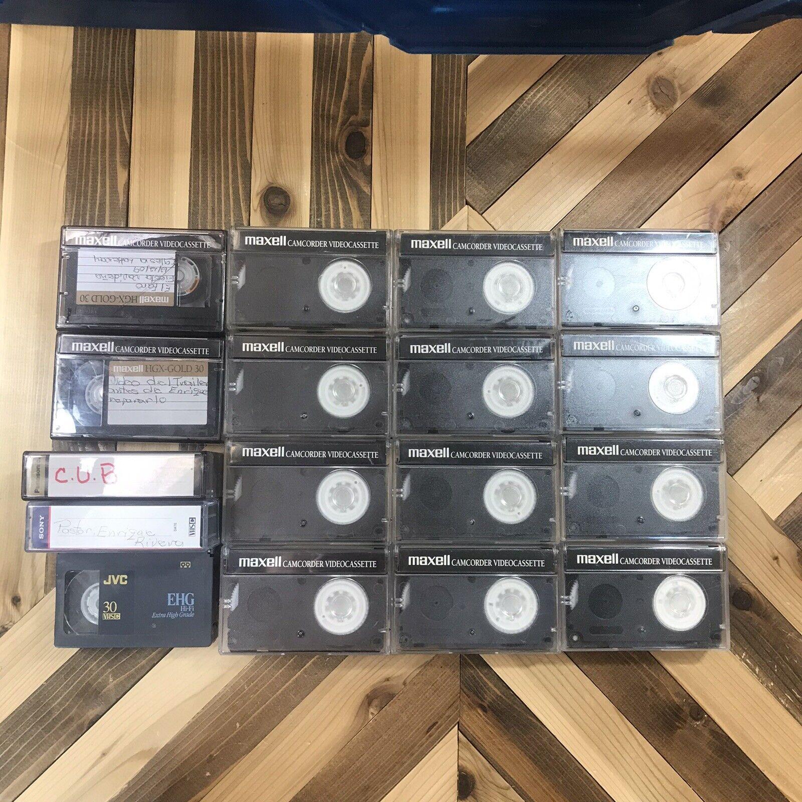 Maxell JVC Sony Panasonic TC-30 VHS-C High Grade HGX-Gold Sold As Blank Lot 17