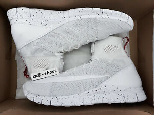 hot sales a0838 35da7 Image is loading NIKE-FREE-FLYKNIT-MERCURIAL-ALL-WHITE-US12-5-