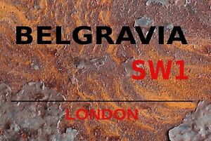 Belgravia SW1 London Motif 2 Tin Sign Shield Metal 20 X 30 CM SM0305