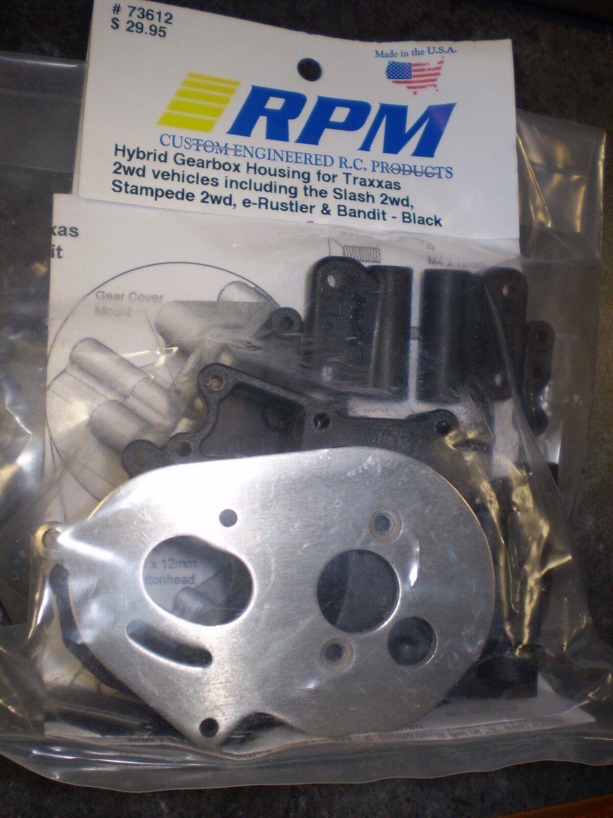 RPM 73614 Hybrid Gearbox Housing//Rear Mounts Bandit Rustler Stampede Slash