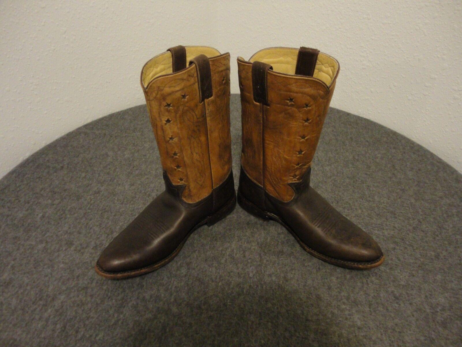 Frye Vaquero Cuero Realzado Mujer botas-76808- Marrón Talla 9.5 B- ( Belk 125)