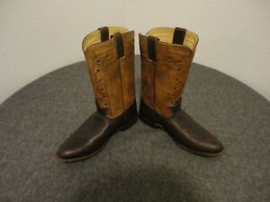 Frye Cowboy Embossed Leather Womens Boots 76808 Brown Size 95 B