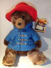 "12"" (30CM) SITTING PADDINGTON BEAR SOFT PLUSH TOY FROM THE MOVIE- LICENCED ITEM"