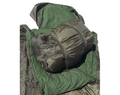 Vert Olive Armée Style Pilote Sac De Couchage Avec Oreiller-Militaire Camping Kit Nouveau