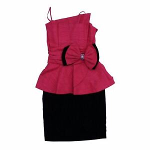 Simon Ellis Damen Mini Kleid 10 Farbe: rot