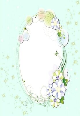100g//qm 20 Blatt Briefpapier Motivpapier mit Blumen-Blüten-Motiv