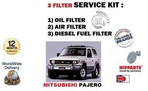 for mitsubishi pajero 2 5d 2 8td 91 2000 oil air diesel fuel filter service kit ebay. Black Bedroom Furniture Sets. Home Design Ideas