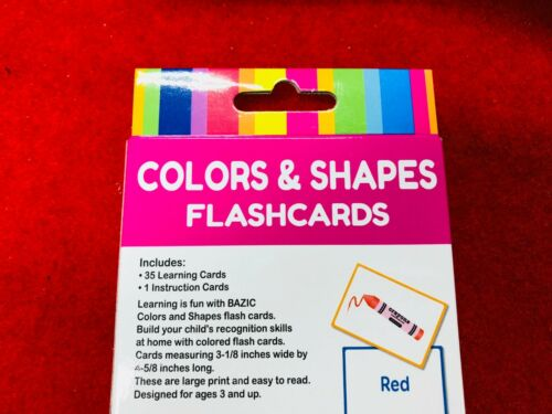 COLORS /& SHAPES Flash cards Educational Kids Game Learning card game  Free Post