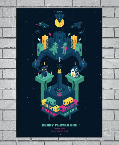 D-281 New Ready Player One Science Fiction 2018 Movie 27x40IN fabric Art Poster