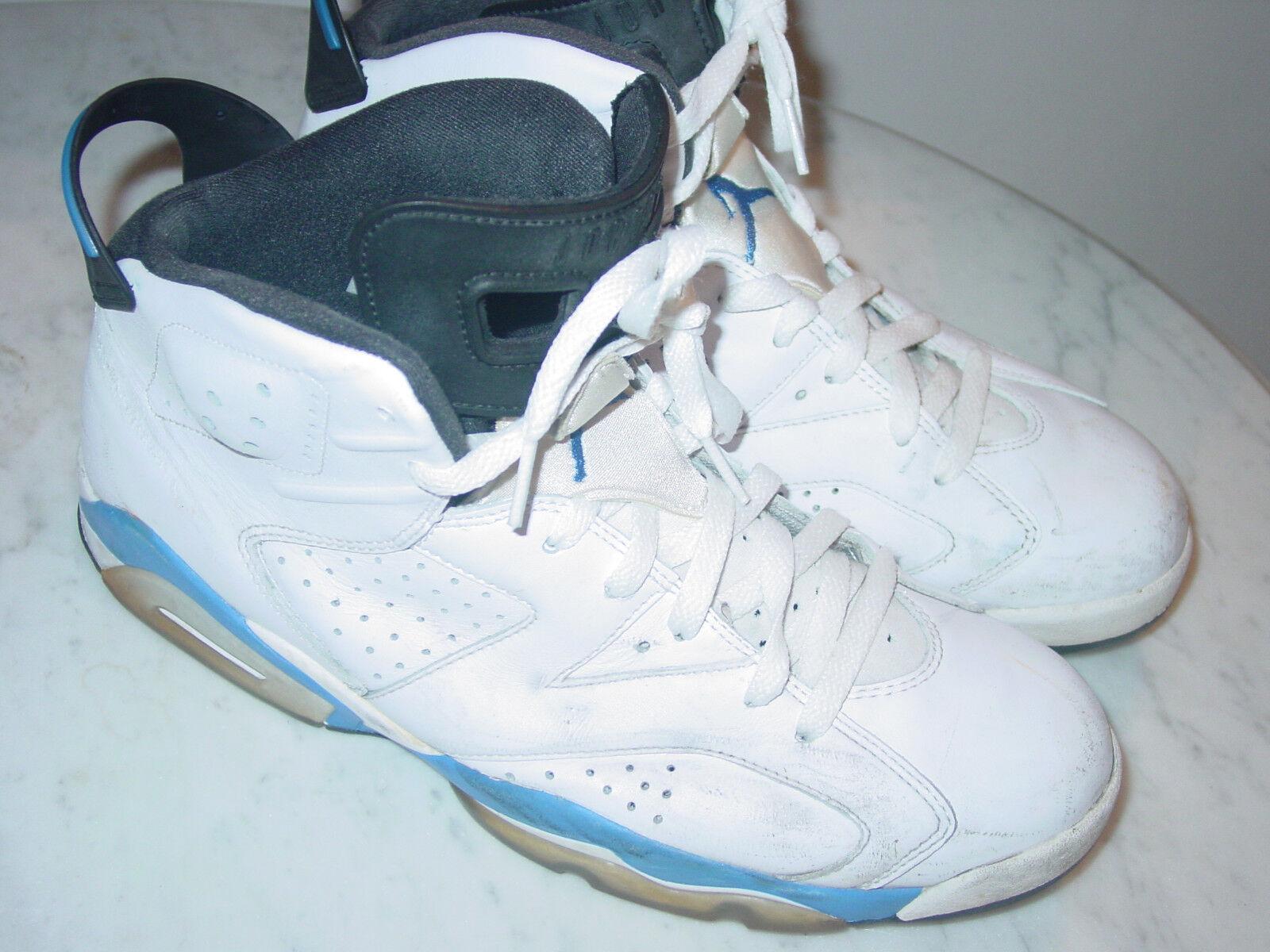 2014 Nike Air Jordan Retro 6 Weiß / Blaue Sportschuhe!Größe 10.5 Verkauft!