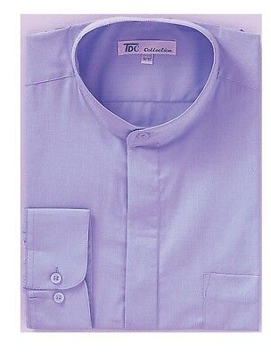 Mens' mandarin collar ( banded collar) dress shirt by TDC collection  Style SG01