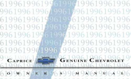 1996 Chevrolet Caprice Owners Manual User Guide