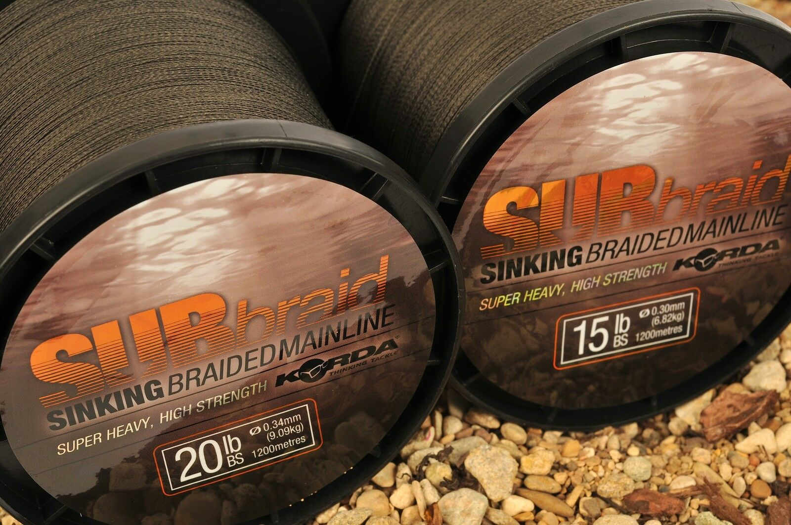 Korda NEW Carp Fishing Sinking Green Sub Braid Line 1200m All Breaking Strains