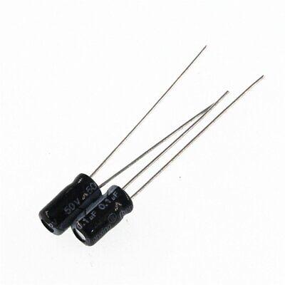 50PCS 50V 0.47uF 50Volt 0.47MFD 105C Aluminum Electrolytic Capacitor 4mm×7mm