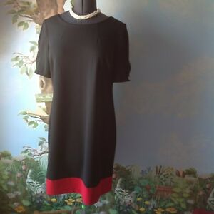tommy hilfiger red and black dress