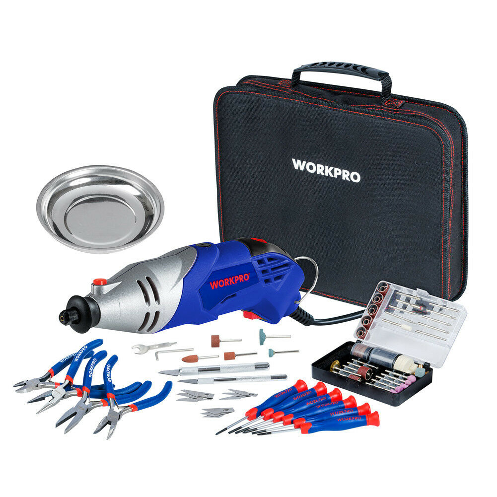workpro 276pc rotary tool accessories kit universal fit. Black Bedroom Furniture Sets. Home Design Ideas