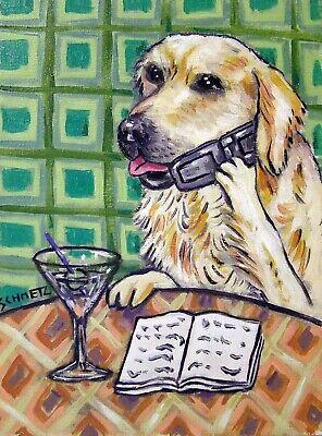 WEST highland TERRIER dog art PRINT poster gift JSCHMETZ modern folk wine 13x19