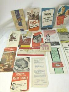 Vintage Lot Advertising Handouts Brochures Inserts 1930s 1940s 33174