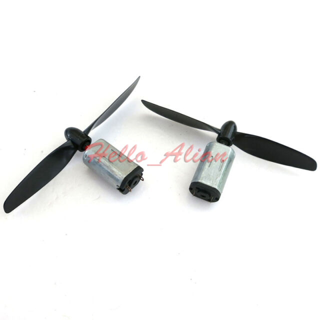 2PCS N30 DC 3V 3.7V 20900RPM High Speed Mini HM Motor+Blades RC Aircraft Model