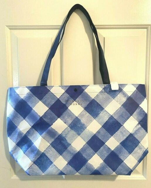 NEW Bath & Body Works 2019 BLACK FRIDAY SHOPPING TOTE blue gingham BAG ONLY